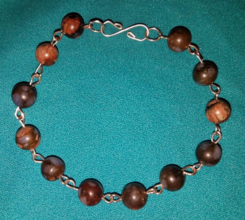 Blue African Opal Link Bracelet