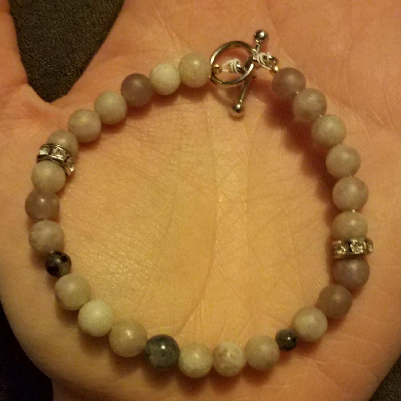 Dendritic Opal & Labradorite Beaded Bracelet
