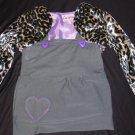Leopard print shrug and jumper set