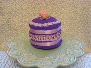 Childrens Felt Playtime Dessert---Passion Plum Cake