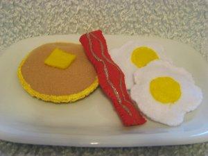 Childrens Playtime felt Sunshine Breakfast set