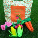Felt Garden Veggie set with Personalized Tote Bag