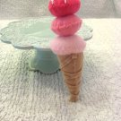 Felt Cone With 3 Scoops of Strawberry--Childrens Playtime Dessert
