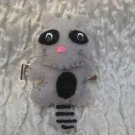 Raccoon Felt Barrette