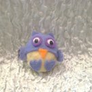 Purple Owl Felt Barrette