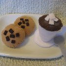 Felt Playtime Hot Cocoa and chocolate chipper cookies