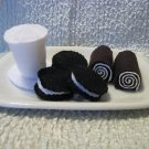 Oreos,hohos and milk Yum! Felt playtime set