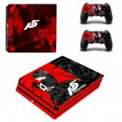 Persona 5 Vinyl Decal Skin Sticker for Sony PS4 Pro Console & 2 Controllers