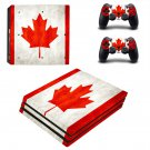 Canada Vinyl Decal Skin Sticker for Sony PlayStation 4 Pro