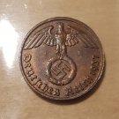Rare Germany Third Reich - 2 Reichspfennig 1937 E with swastika