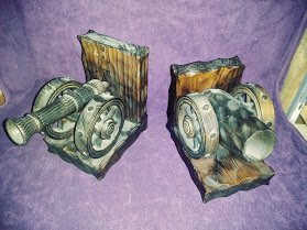 Cannon Book Ends -