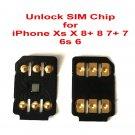 Nano Unlock SIM Chip for iPhone Xs X 8 8+ 7 7+ 6 6+ for Latest iOS13.3.1 SIM Card