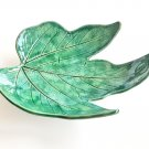 Ceramic leaf shaped trinket dish, ring holder, ring dish, cone incense burner