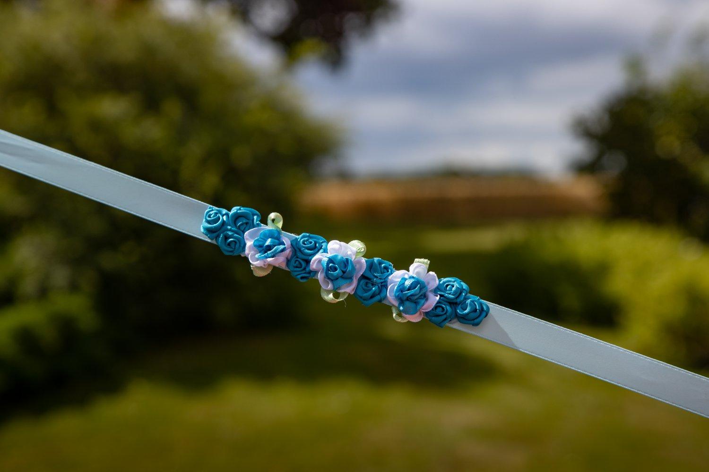 Sky blue bunwrap