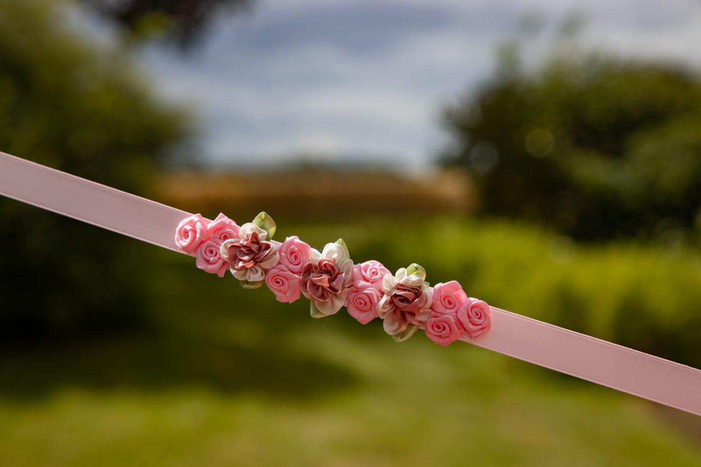 Dusty pink/pink bunwrap