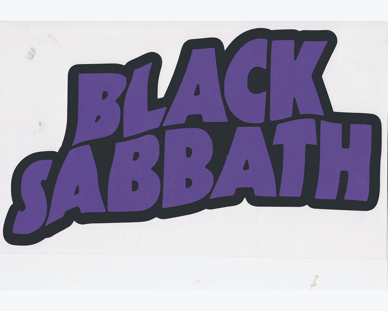 "Black Sabbath - Permanent Vinyl Decal - 3 3/8"" Width x 2"" Height"