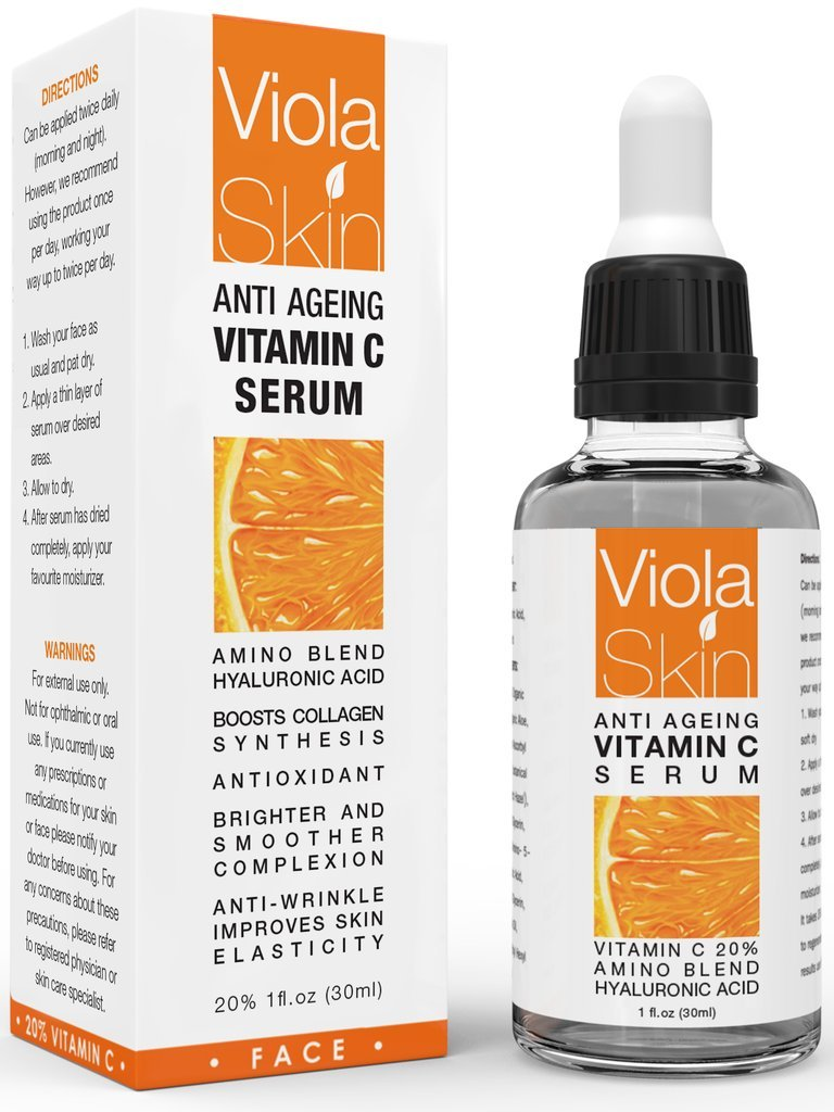 100% GENUINE VIOLA Vitamin C Serum For Face with Hyaluronic Acid Serum - Anti Ageing & Anti Wrinkle