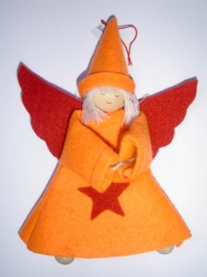 FELT ANGEL HANGER FOR X'MAS (16CM)