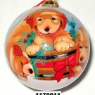 Doggies,X'mas inner-painted glass ball