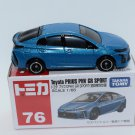 Takara Tomy Tomica Diecast Car Scale 1:65 #76 Toyota Prius PHV GR Sport Blue (Special First Edition)