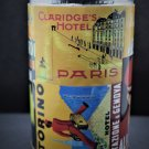 Handmade Vintage Hotels Label Design Pen Pencil Holder from Recyle Food Tin Can