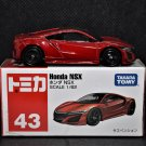 Takara Tomy Tomica #43 Honda NSX Color Red Scale 1:62 Diecast Model Car
