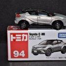 Takara Tomy Tomica #94 Toyota C-HR Silver Diecast Car Model Scale 1.64
