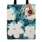 Tote Bag Andy Warhol iconic illustration of the Poppy Flowers includes 3  limited edition pins