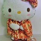 Sanrio Hello Kitty Autumn Leaves Kimono Plush Doll Japan Exclusive Height 28 cm