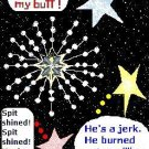 ACEO Art Card I'M THE GREATEST STAR! funny humor stars star digital cards