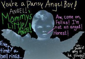 email-art ANGEL TORMENT funny humor angel digital and altered photograph art