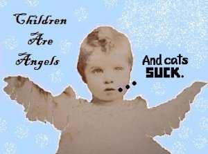 email-art CHILDREN ANGELS CATS funny humor altered photograph digital art