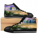 Colorful Waterfalls Unique Custom High Quality Men, Women High-top Sneakers Shoes-Free Shipping