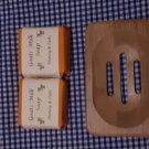 Wooden Soap Dish & Honey/Oat Goat Milk Soap (80g)