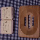 Wooden Soap Dish & Lavender Goat Milk Soap (80g)