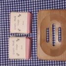 Wooden Soap Dish & Rose Scented Goat Milk Soap (80g)