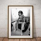 Mick Jagger 13 x 19 Inch Canvas Poster Fine Art Black And White Print Portrait Print Unframed