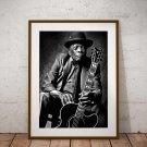 John Lee Hooker 13 x 19 Inch Canvas Poster Fine Art Black And White Print Portrait Print Unframed