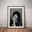 Phil Lynott 13 x 19 Inch Canvas Poster Fine Art Black And White Print Portrait Print Unframed