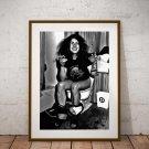 Ozzy Osbourne 13 x 19 Inch Canvas Poster Fine Art Black And White Print Portrait Print Unframed