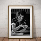 Keith Richards 13 x 19 Inch Canvas Poster Fine Art Black And White Print Portrait Print Unframed