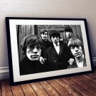 The Rolling Stones 13 x 19 Inch Canvas Poster Fine Art Black And White Landscape Print Unframed