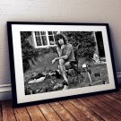 Keith Richards 13 x 19 Inch Canvas Poster Fine Art Black And White Landscape Print Unframed
