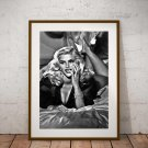 Anna Nicole Smith 13 x 19 Inch Canvas Poster Fine Art Black And White Print Portrait Print Unframed
