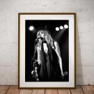 Stevie Nicks 13 x 19 Inch Canvas Poster Fine Art Black And White Print Portrait Print Unframed
