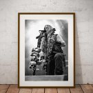 Zakk Wylde 13 x 19 Inch Canvas Poster Fine Art Black And White Print Portrait Print Unframed