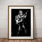 Randy Rhoads Ozzy Osbourne 13x19 Inch Canvas Poster Fine Art Black And White Portrait Print Unframed
