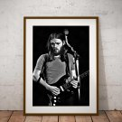 David Gilmour 13x19 Inch Canvas Poster Fine Art Black And White Portrait Print Unframed