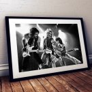 Van Halen 13 x 19 Inch Canvas Poster Fine Art Black And White Landscape Print Unframed