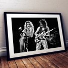 Edward Van Halen David Lee Roth 13 x 19 Inch Canvas Poster Black And White Landscape Print Unframed